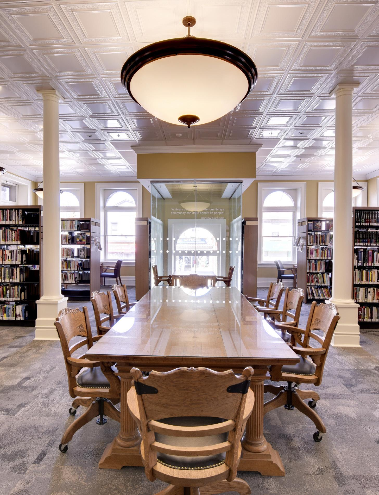 Fergus Library board table interior