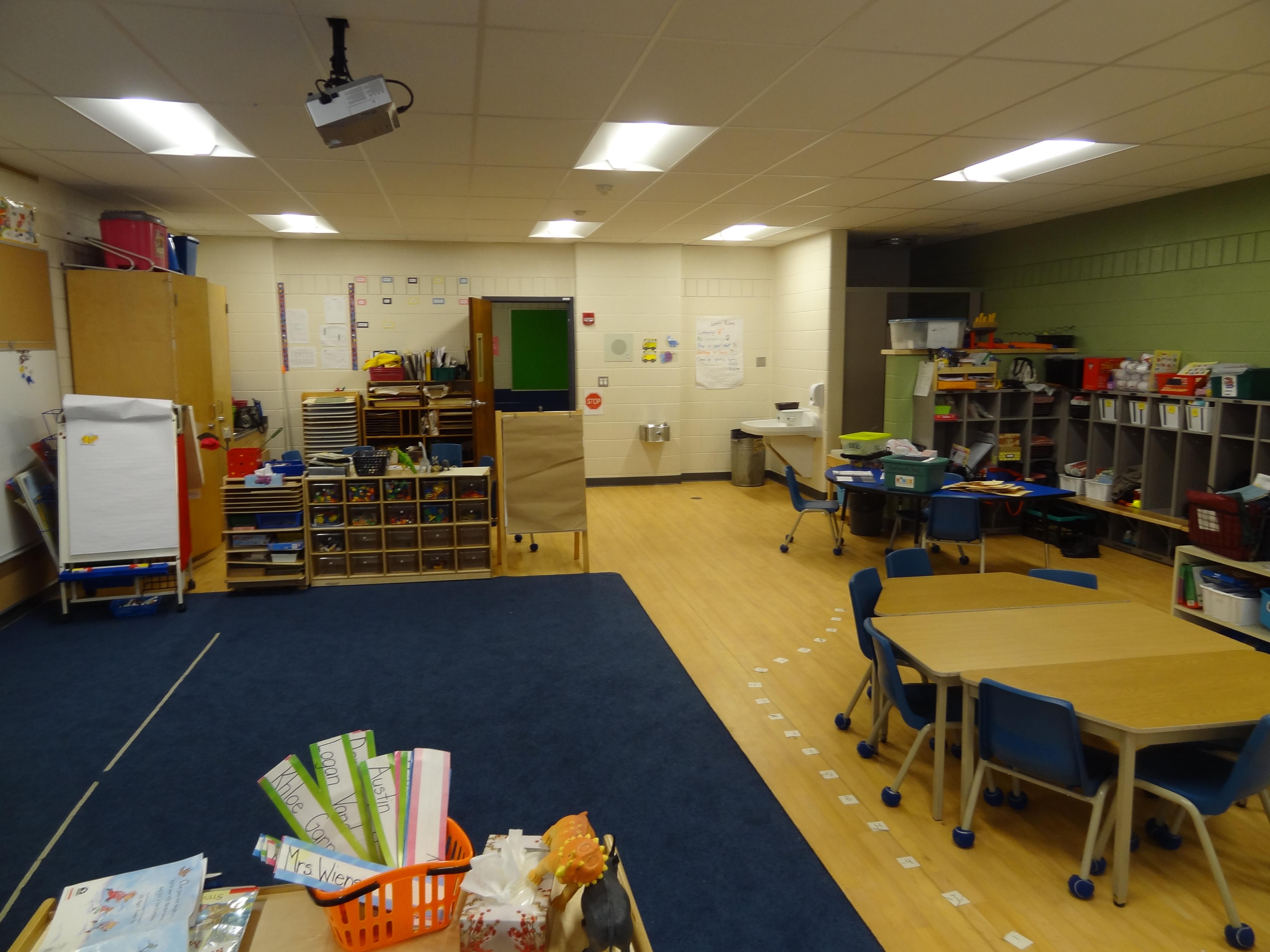 HWDSB George Armstrong School Kindergarten Addition interior shot