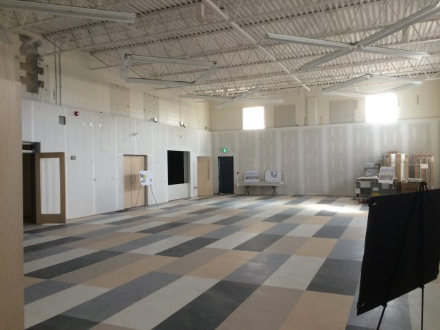Philpott Memorial Church new space construction interior shot