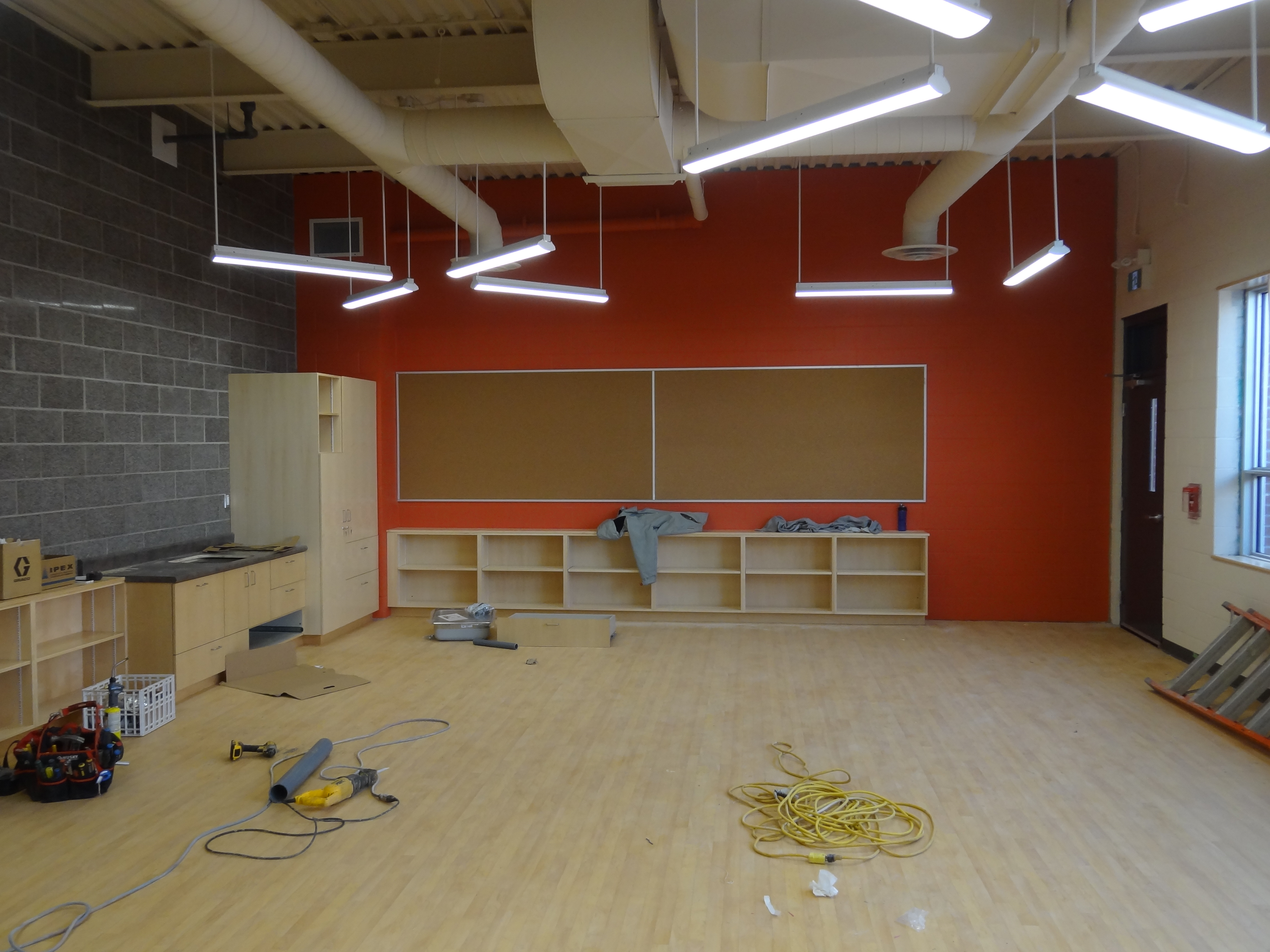 HWDSB Queensdale School Renovations & Addition interior construction